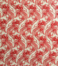 Casa Embellish Jewel Floral Embroidered On Mesh Fabric-Hibiscus Red