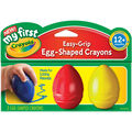 My First Crayola Easy Grip Egg Shaped Crayons 3/Pkg-Blue, Red & Yellow