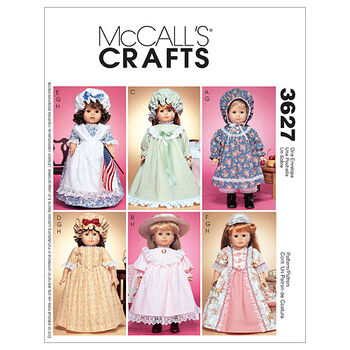 McCall's Crafts Doll Clothes-M3627