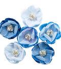 Santorini Fabric Flowers 6/Pk-Messaria
