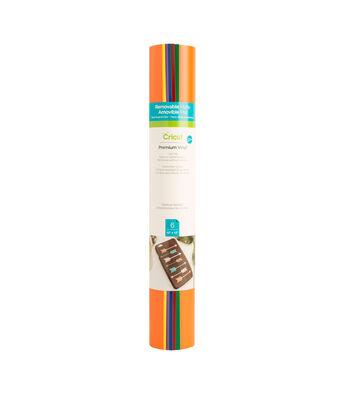 Cricut 6 pk 12''x12'' Removable Matte Premium Vinyl Samplers-Rainbow