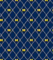 "University of Michigan Wolverines Cotton Fabric 44""-Logo, , hi-res"