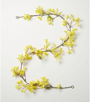 Fresh Picked Spring 66'' Forsythia Garland-Yellow
