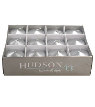 Hudson 43 Candle & Light Collection 12 Pack Votives Silver