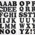 Jolee\u0027s Boutique 42 pk 1.5\u0027\u0027 Glitter Letters Iron-on Transfers-Black