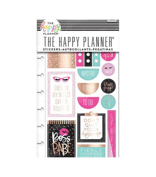 Happy Planner Stickers 5/Sheets -Boss Babe
