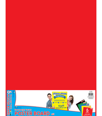 Royal Brites 5 pk 22''x28'' Poster Boards-Primary Colors