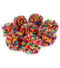 Fab Lab Yarn Pom Poms 8/Pkg-Solid Multicolor