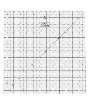 """OLFA Frosted Advantage Non-Slip Ruler """"The Standard""""-12-1/2""""X12-1/2"""""""