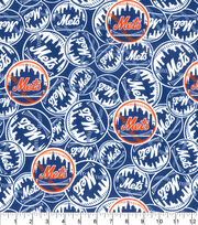 New York Mets Cotton Fabric -Mascot Logo, , hi-res