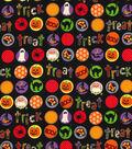 Halloween Cotton Fabric -Trick Or Treat Circles