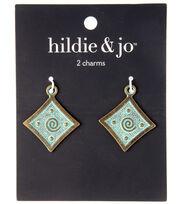 hildie & jo Charm Zinc Alloy 27x32mm-Diamond Patina, , hi-res