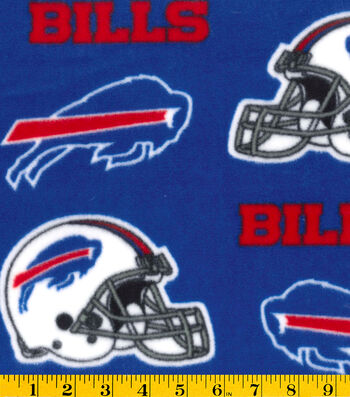 Buffalo Bills Fleece Fabric 58''-Blue