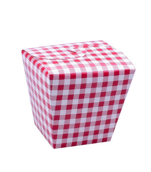 Land of the Free Baking 5 pk Treat Boxes with Fold Over Lid-Red Gingham