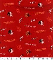 Florida State University Seminoles Cotton Fabric 43''-All Over, , hi-res