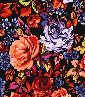 Silky Apparel fabric -Crepe Floral Multi