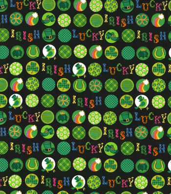 St. Patrick's Day Fabric 44''-Lucky Irish