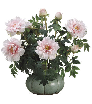Bloom Room Luxe 26'' Peony In Ceramic Pot-Pink