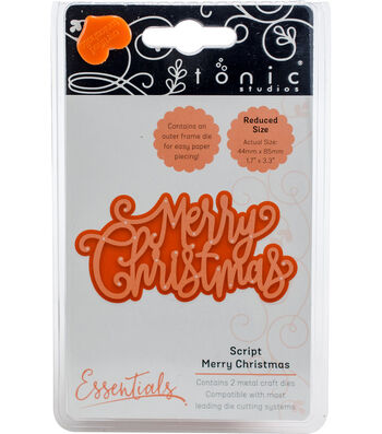 Tonic Studios Christmas Sentiments 2 pk Dies-Script Merry Christmas