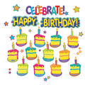 Eureka Mini Bulletin Board Set-Color My World Birthday
