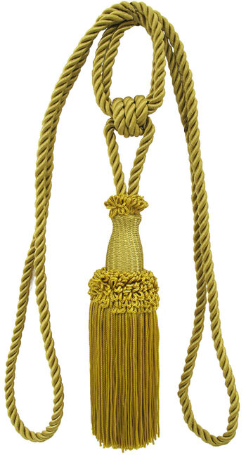 Ss 30in Old Gold Tieback Knotted Single
