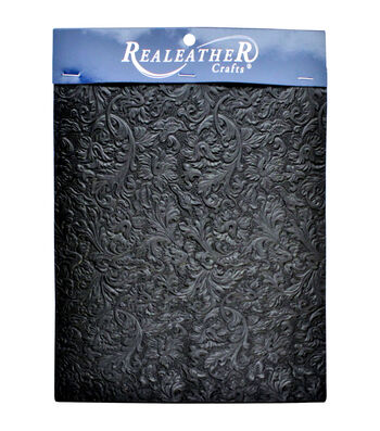 Realeather Crafts Acanthus trim Piece-Black