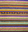 Halloween Cotton Fabric -Spooky Stripes
