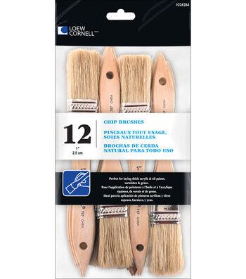 Loew-Cornell 12 pk 1'' Chip Brushes