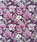 Luxe Fleece Fabric-Floral on Pink