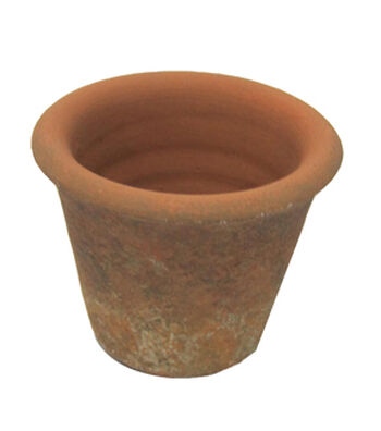 Fresh Picked Spring Small Aged Terra Cotta Pot