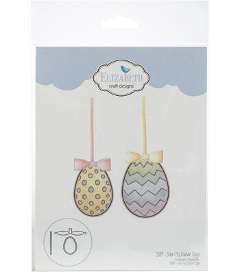 Elizabeth Craft Designs 4 pk Metal Dies-Color My Easter Eggs