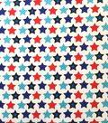 Doodles Interlock Knit Fabric 57\u0027\u0027-Stripes of Stars