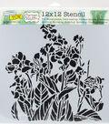 Crafter\u0027s Workshop Carmen Medlin Template 12\u0027\u0027x12\u0027\u0027-Canna Lilies