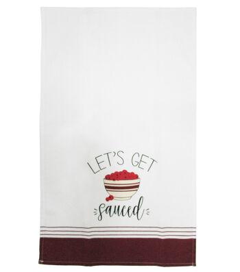 Simply Autumn Cotton Tip Towel-Let's Get Sauced