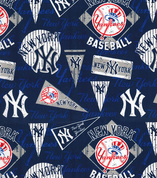 New York Yankees Cotton Fabric-Vintage