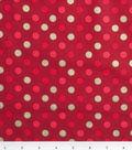Keepsake Calico Holiday Cotton Fabric 43\u0022-Gold Dots