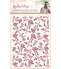 Rustic Cottage Embossing Folder 5\u0022X7\u0022-Rose Garden