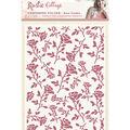 Rustic Cottage Embossing Folder 5\u0022X7\u0022-Rose Garden