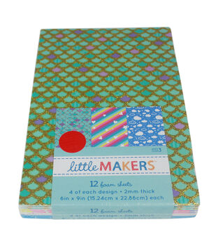 Little Makers Foam Sheets-Glitter Designer