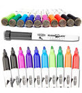 KleenSlate 10 pk Small Dry Erase Student Markers with Eraser Caps-Multi