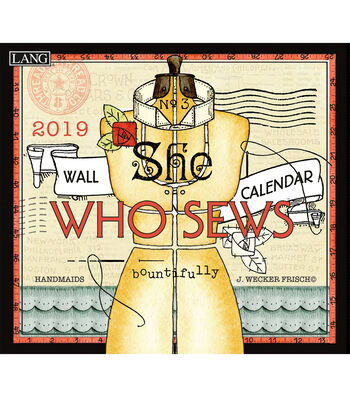 She Who Sews 2019 Wall Calendar