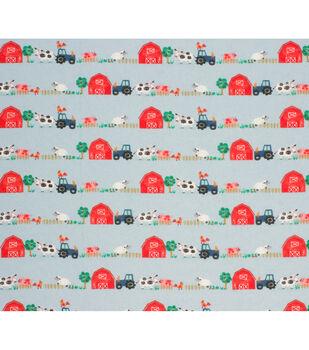 Super Snuggle Flannel Fabric-Farm Animals