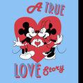 Disney Mickey & Minnie No Sew Fleece Throw Fabric-A True Love Story