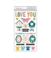 Maggie Holmes Willow Lane Thickers Stickers 70/Pkg-Wonderful Phrase, , hi-res