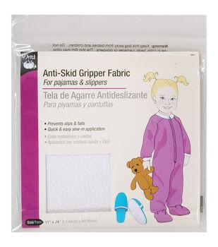 """Anti-Skid Gripper Fabric 11""""X24""""-White"""