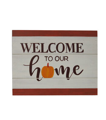 Simply Autumn Wall Decor-Welcome to Our Home