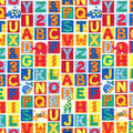 Novelty Cotton Fabric-Animals & School Letters