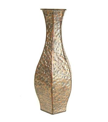 Bloom Room Hexagon Metal Vase-Bronze