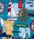 Snuggle Flannel Fabric -Sail Away