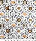 Nursery Cotton Fabric-Eamon Circle Faces